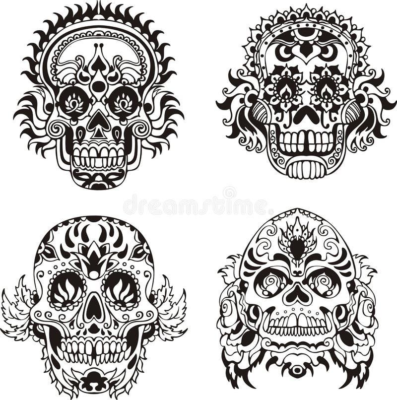 Blom- skallar royaltyfri illustrationer