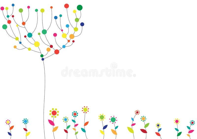 Blom- skraj bakgrund royaltyfri illustrationer