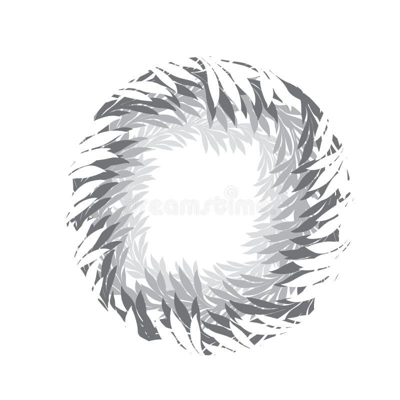 Blom- skraj ram Vektorn lämnar kransbakgrund Lätt till edi vektor illustrationer