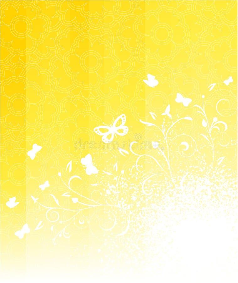 blom- soligt för bakgrund vektor illustrationer