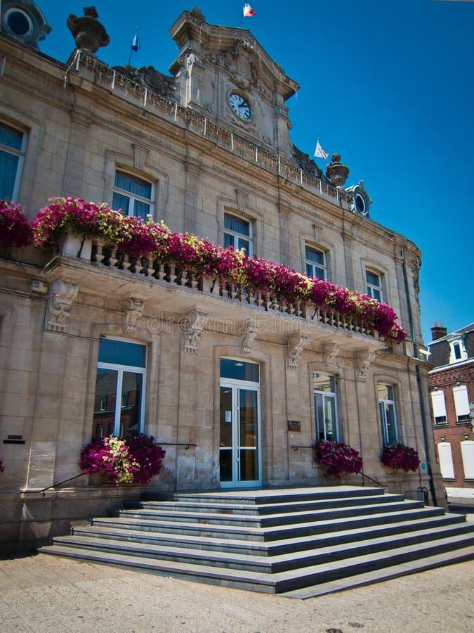 Blom- stadshus royaltyfria foton