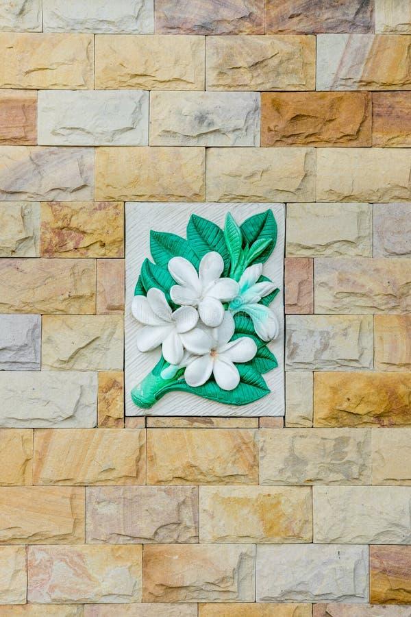 Blom- stenvägg arkivbild