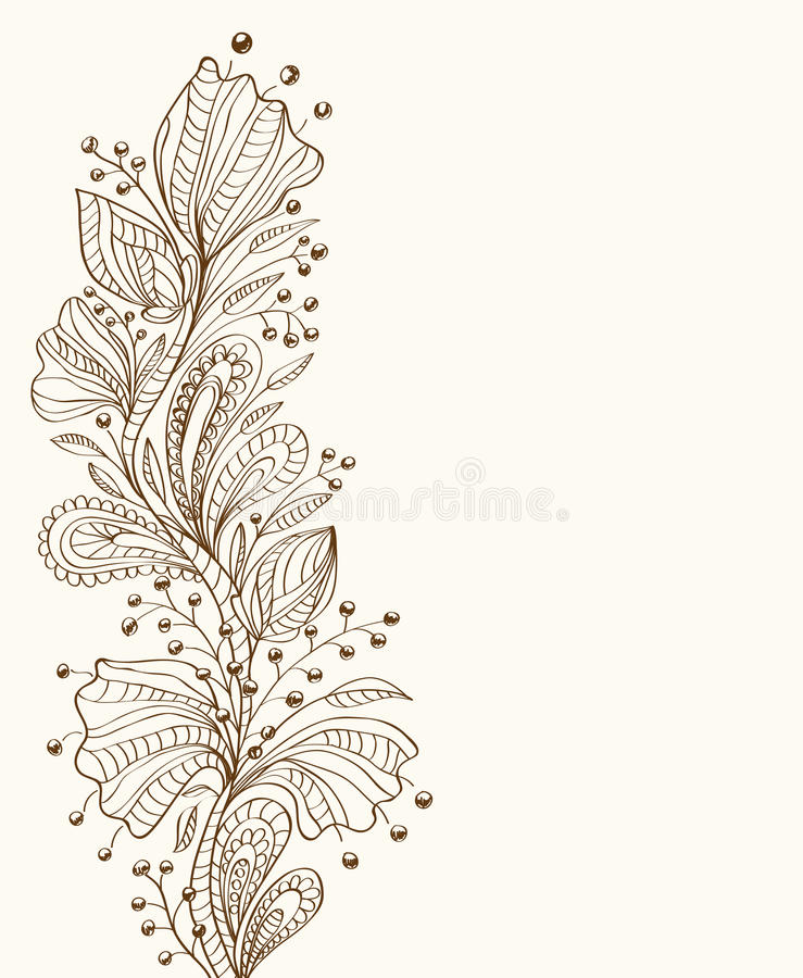 Blom- Stilfullt För Bakgrund Royaltyfri Fotografi