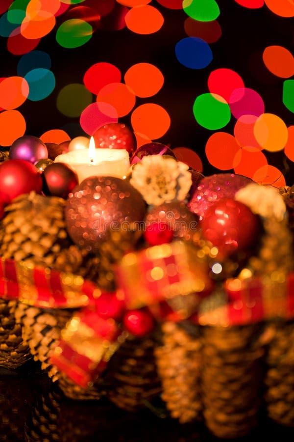 Blom- tabellgarnering för jul royaltyfri fotografi