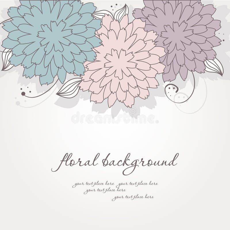 blom- tappning för abstrakt bakgrund stock illustrationer