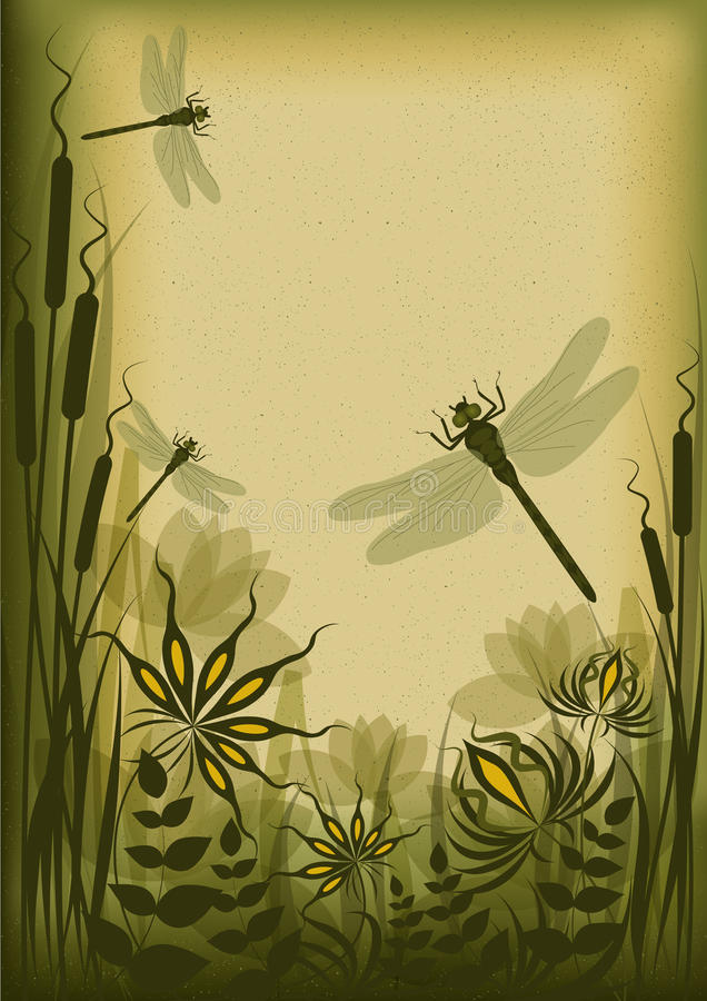 blom- tappning för bakgrund stock illustrationer