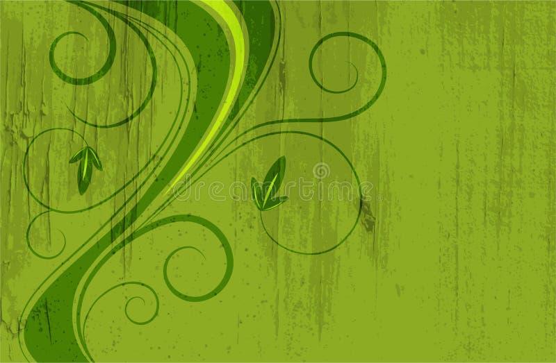 blom- tappning för bakgrund royaltyfri illustrationer