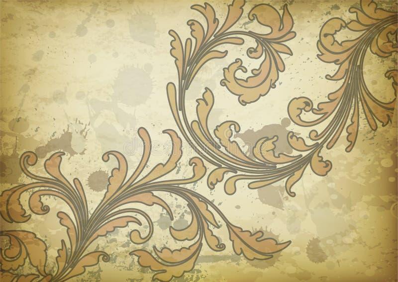 blom- tappning för bakgrund vektor illustrationer