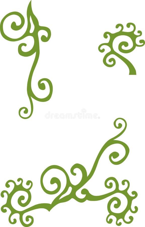 Blom- tappningbeståndsdel stock illustrationer