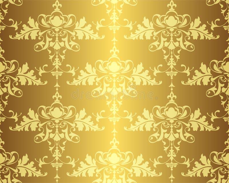 Blom- tappningprydnad med den sömlösa modellen för virvelbeståndsdeldesign royaltyfri illustrationer