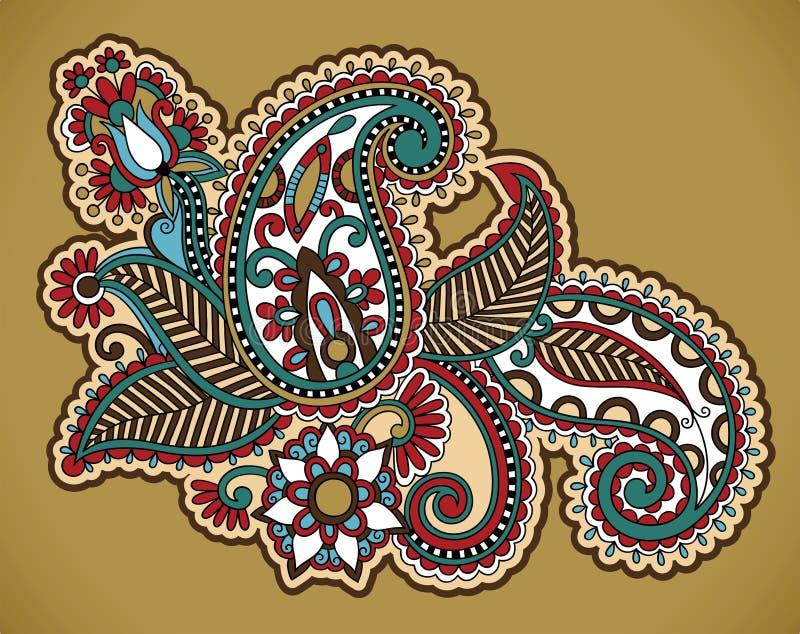 blom- tatuering för design royaltyfri illustrationer