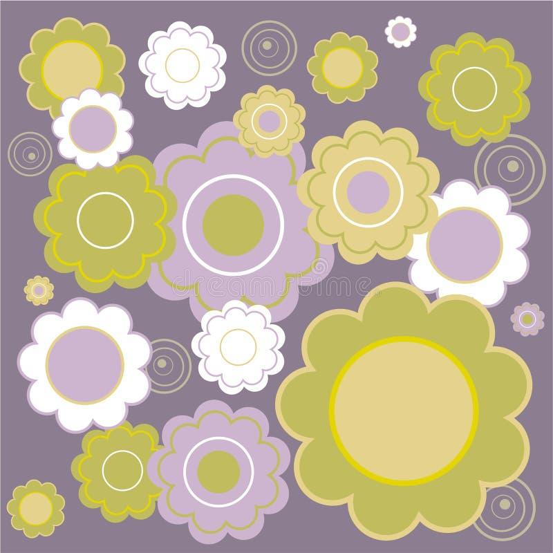 blom- tegelplatta royaltyfri illustrationer