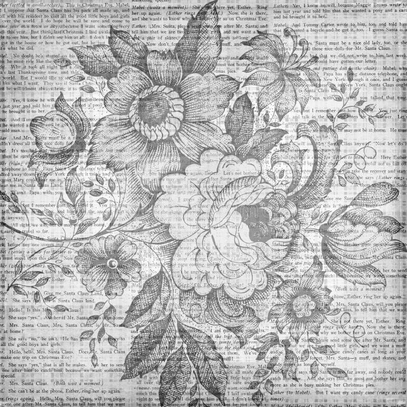 Blom- texturbakgrund för Grungy tappning arkivbild