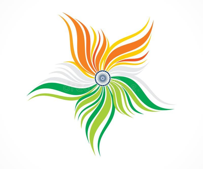 Blom- tri färg för abstrakt konstnärlig idérik indier royaltyfri illustrationer