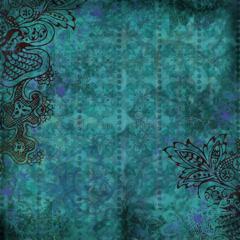 blom- tropiskt för bakgrund vektor illustrationer