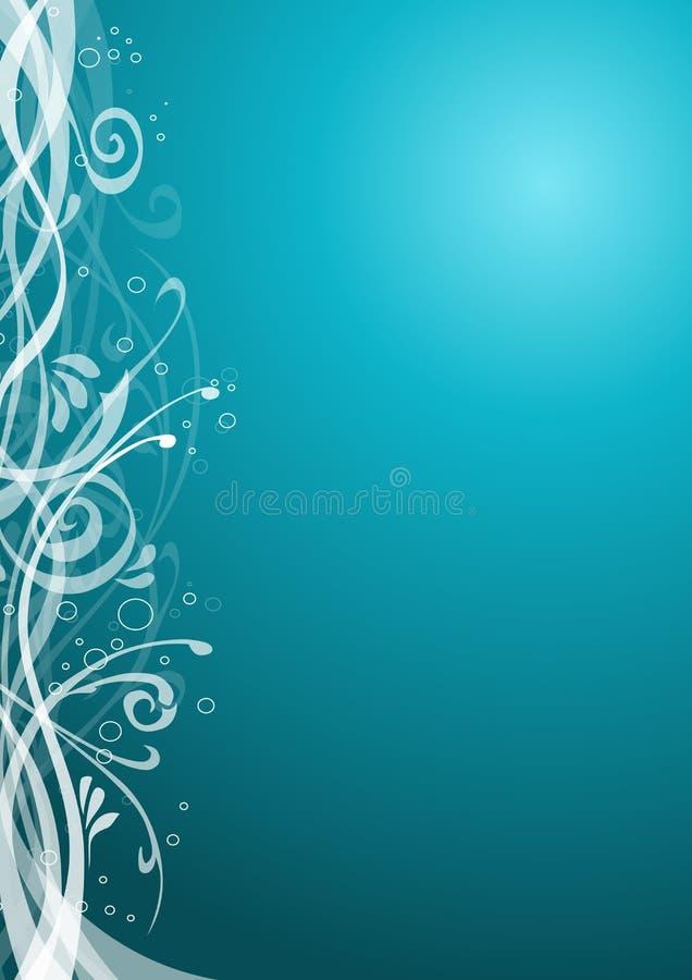 blom- turkos för bakgrund vektor illustrationer