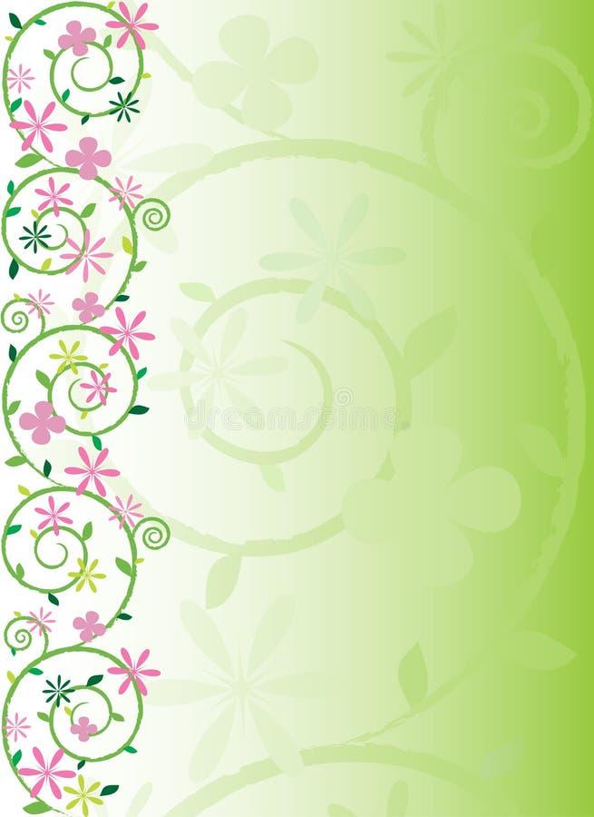 blom- utsmyckad fjäder vektor illustrationer