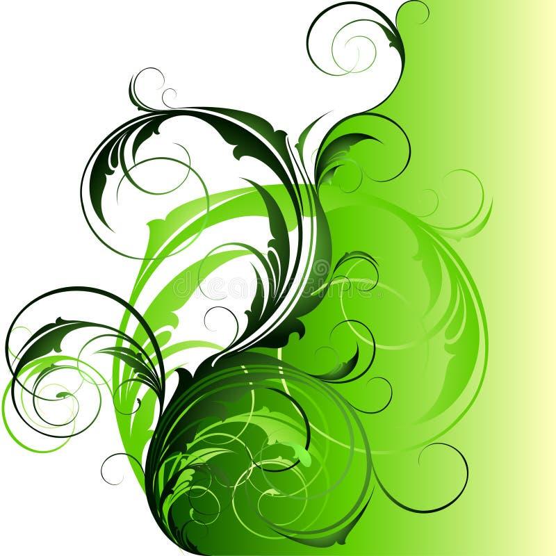 blom- utsmyckat för bakgrund vektor illustrationer