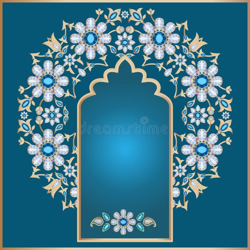 blom- utsmyckat för bakgrund stock illustrationer