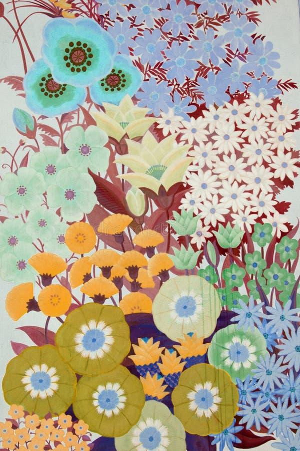 Blom- vägggarnering fotografering för bildbyråer