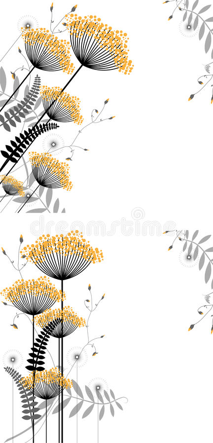 blom- växt för abstrakt bakgrundselement stock illustrationer