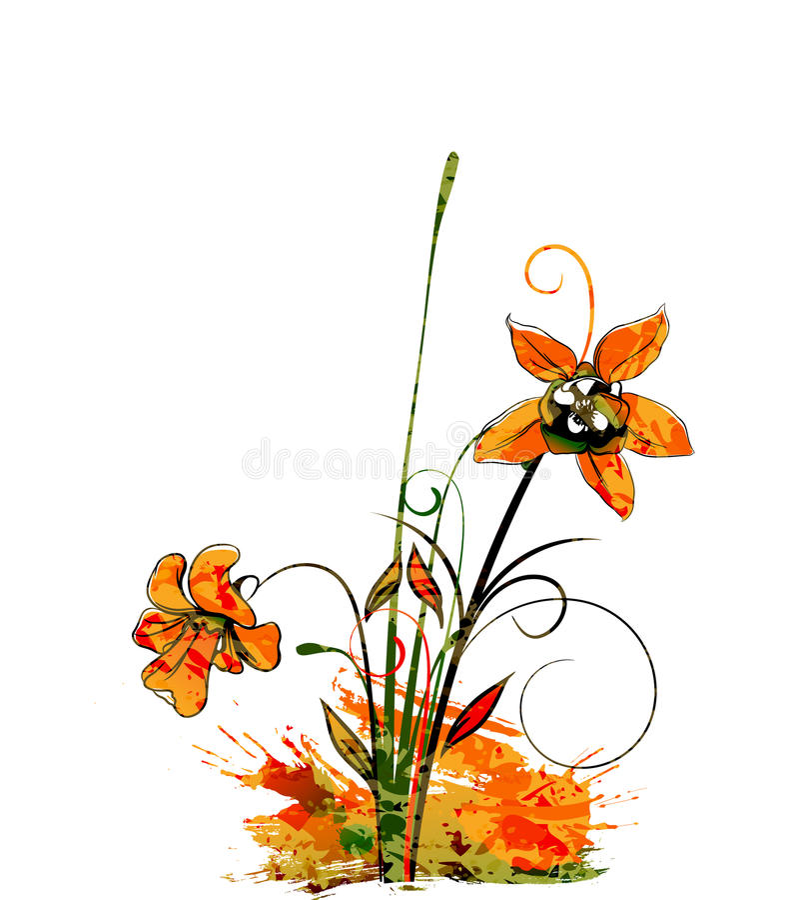 blom- vattenfärg för bakgrund royaltyfri illustrationer