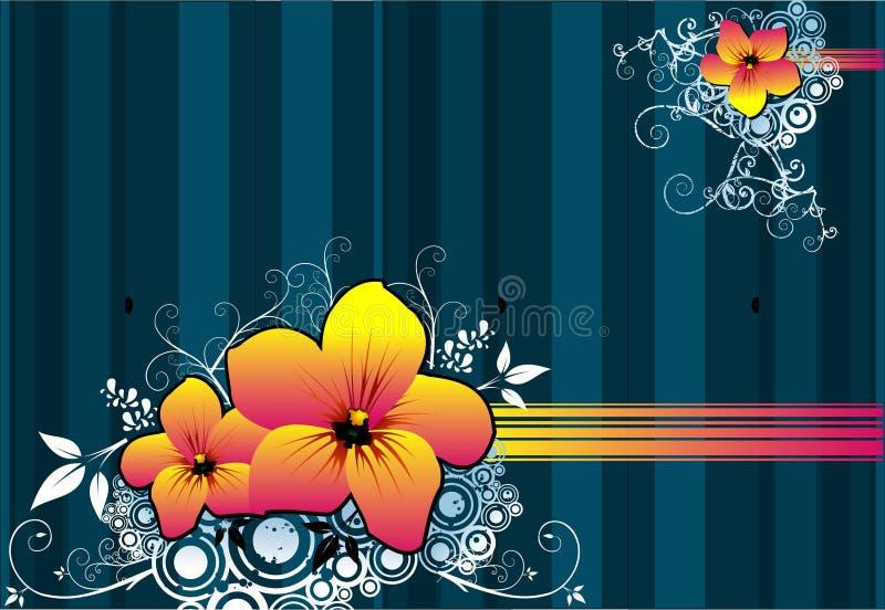 blom- vektor royaltyfri illustrationer