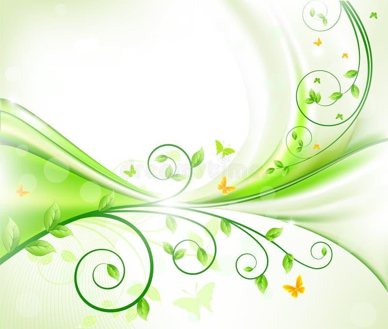 blom- vektor för abstrakt bakgrund vektor illustrationer