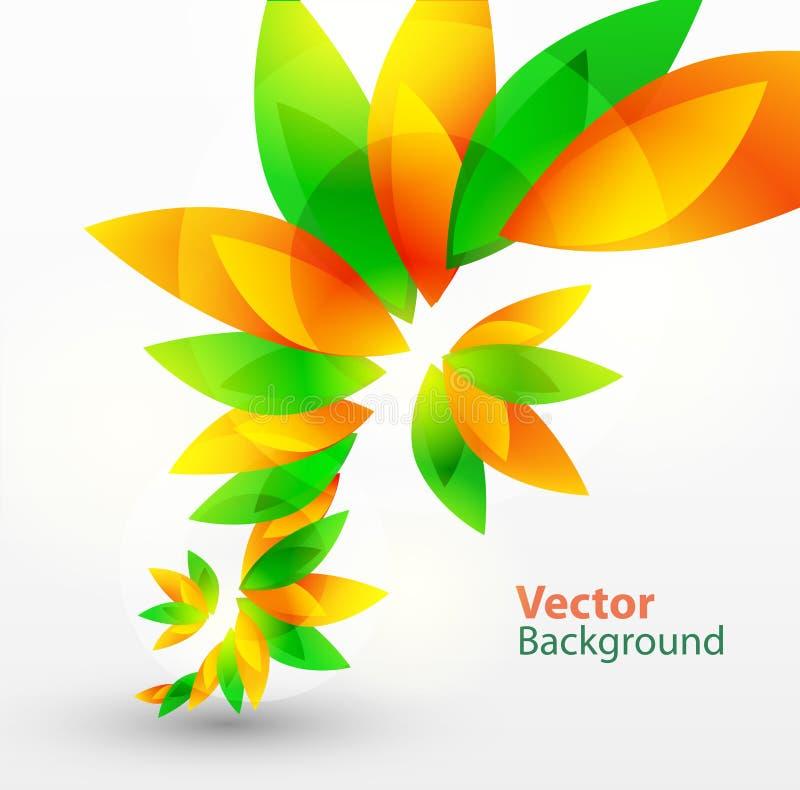 blom- vektor för abstrakt bakgrund royaltyfri illustrationer
