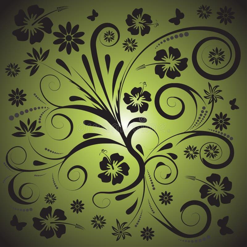 blom- vektor för abstrakt design stock illustrationer