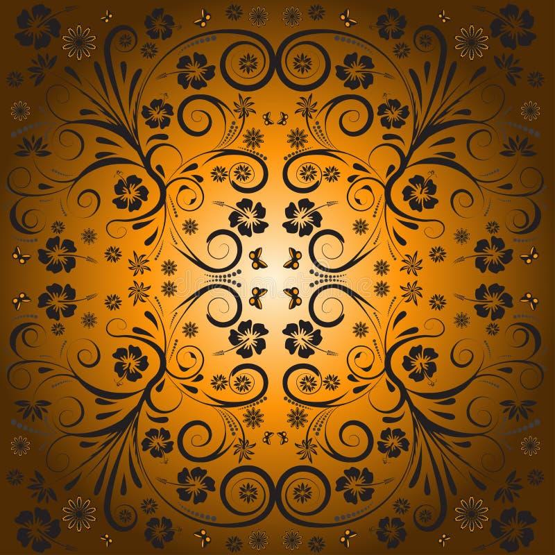 blom- vektor för abstrakt design vektor illustrationer