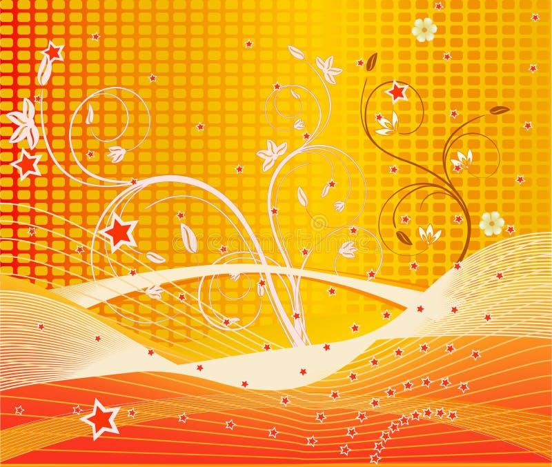 blom- vektor för abstrakt konst vektor illustrationer