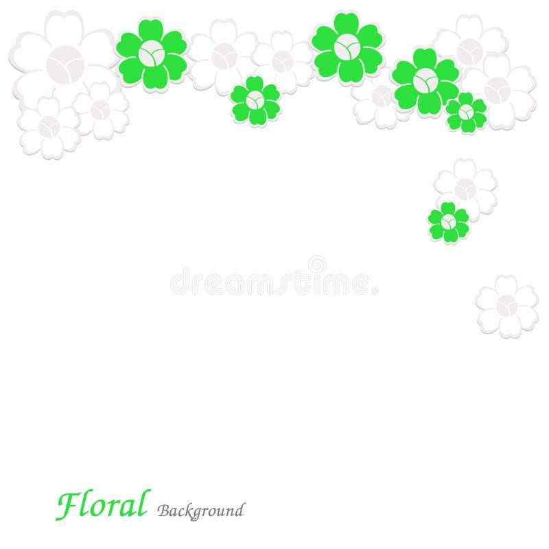 blom- vektor för bakgrund royaltyfri illustrationer