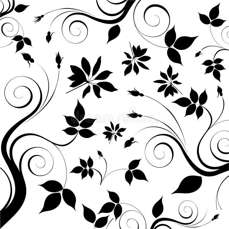 blom- vektor för bakgrund vektor illustrationer