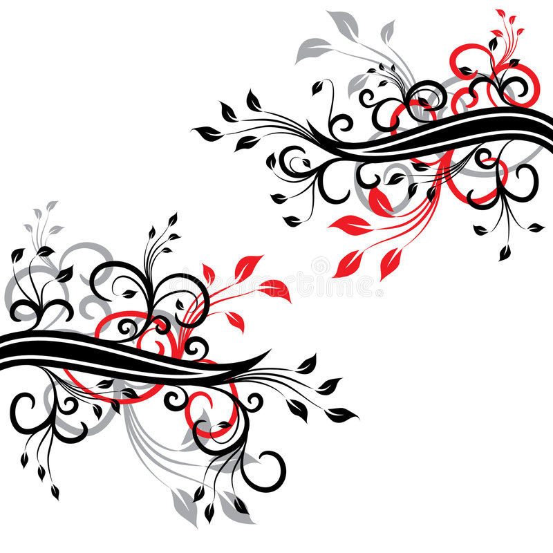 blom- vektor för design royaltyfri illustrationer