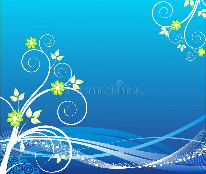 blom- vektor för design stock illustrationer