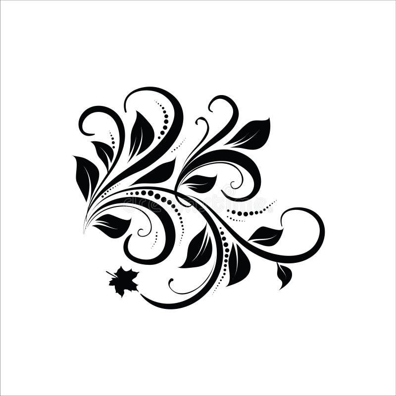 Blom- vektor Ilustration för prydnad royaltyfri foto