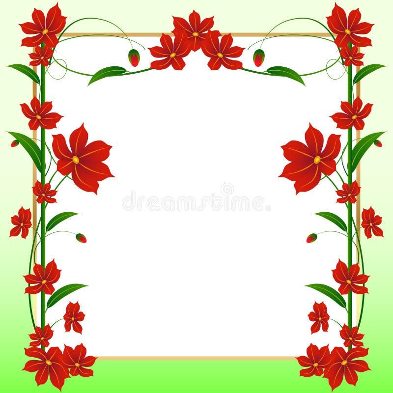Blom- vektorkort vektor illustrationer