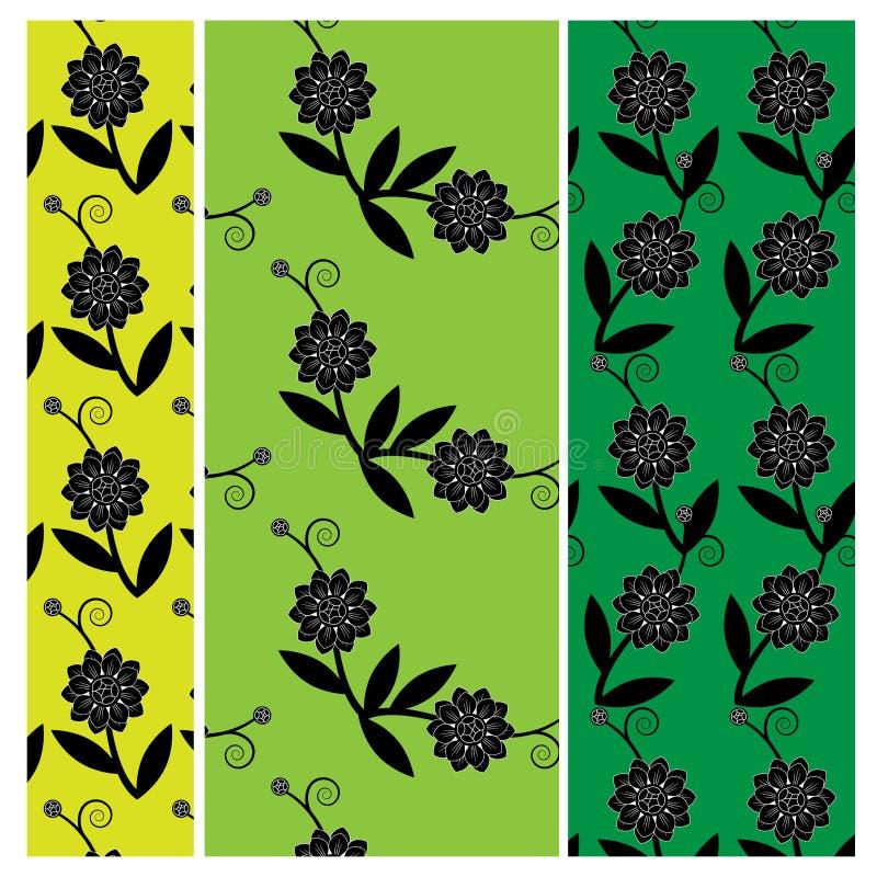 Blom- vektormodell stock illustrationer