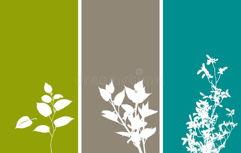 blom- vertical för baner stock illustrationer