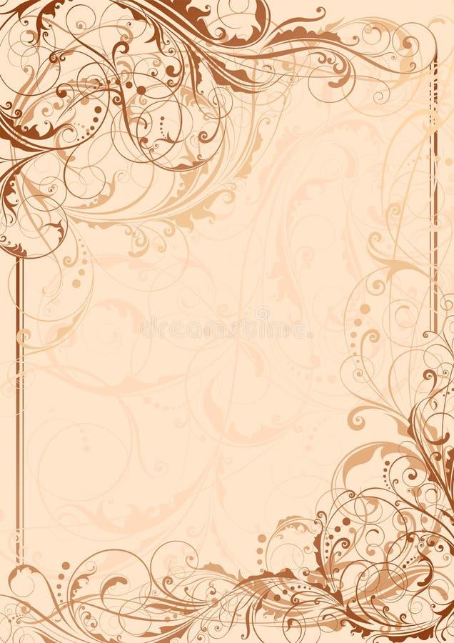 Blom- virvelbakgrund vektor illustrationer