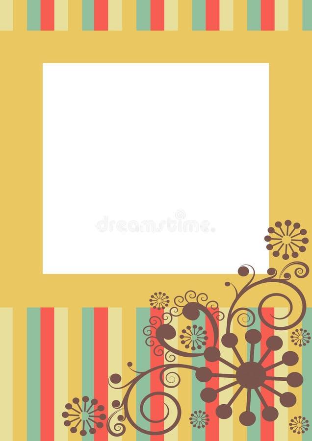 Blom- virvelram stock illustrationer