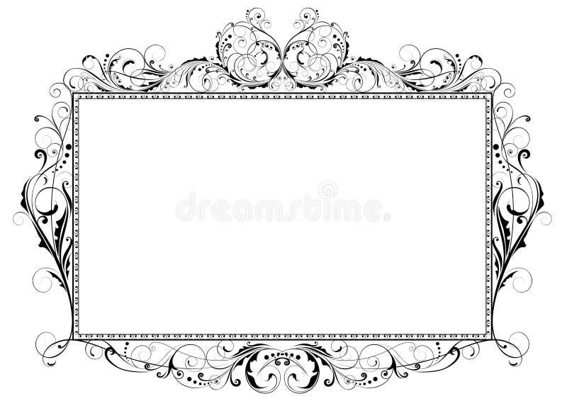 Blom- virvelram royaltyfri illustrationer