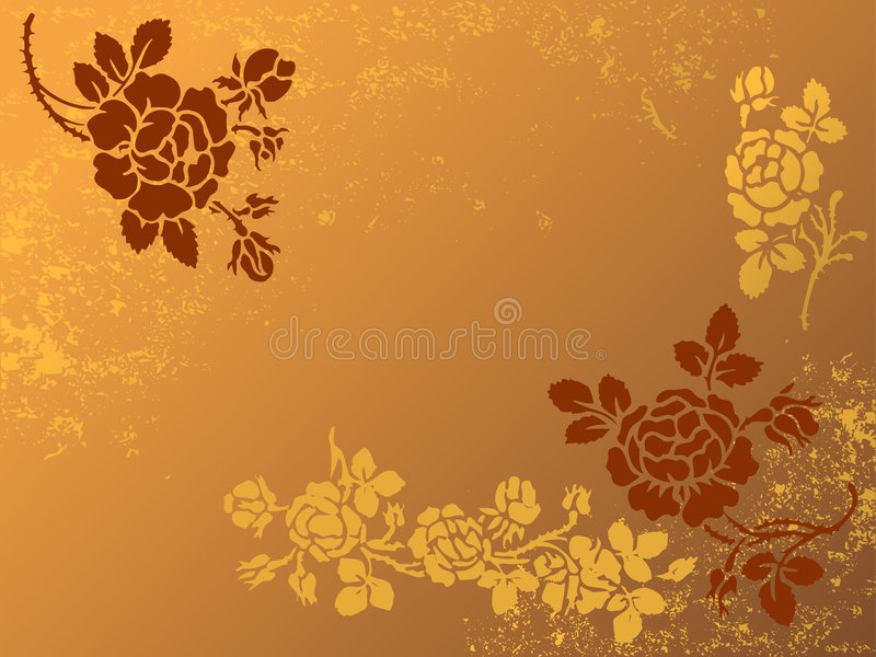 blom- wallpaper stock illustrationer