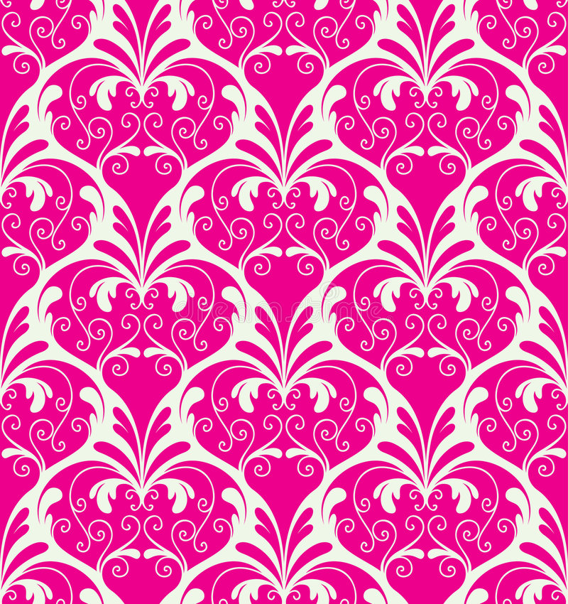 blom- wallpaper stock illustrationer