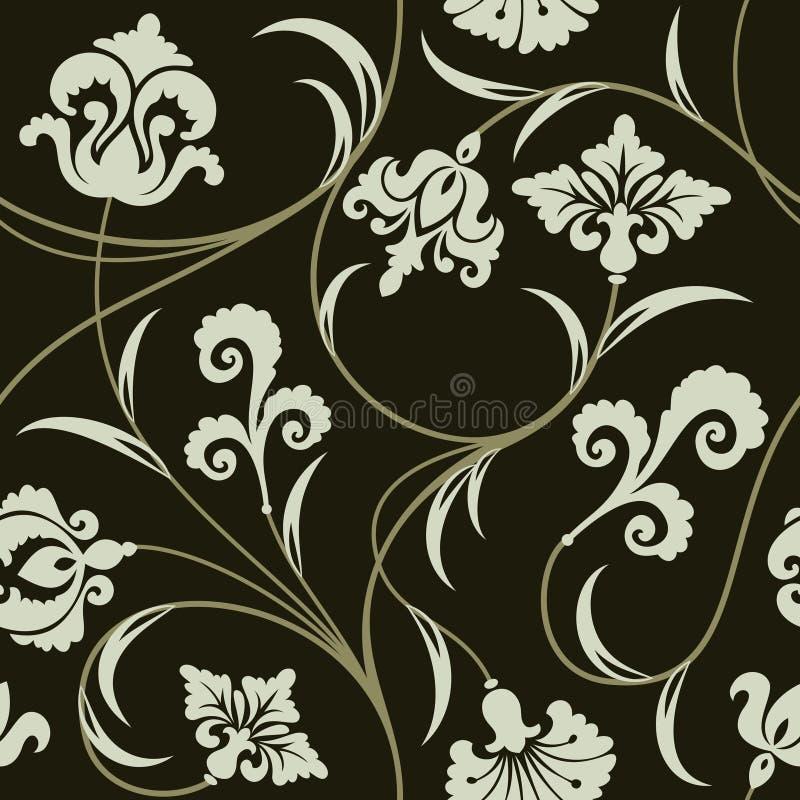 blom- wallpaper royaltyfri illustrationer
