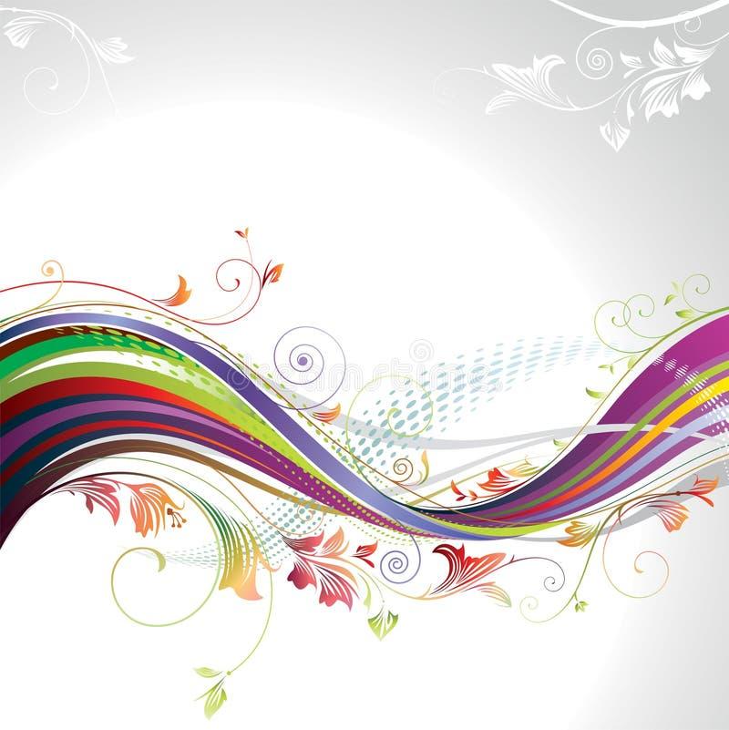 blom- wave vektor illustrationer