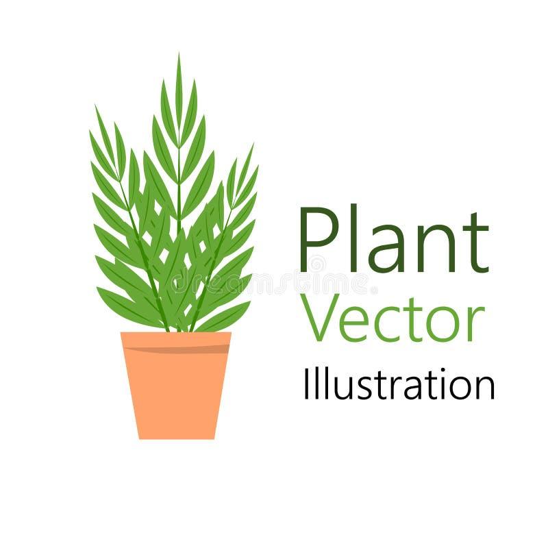 Blomkruka med växten royaltyfri illustrationer