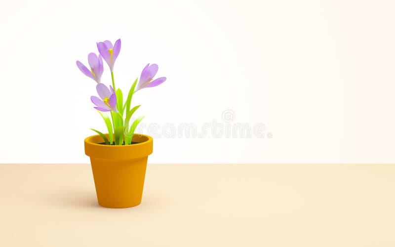blomkruka på bakgrunden royaltyfri illustrationer