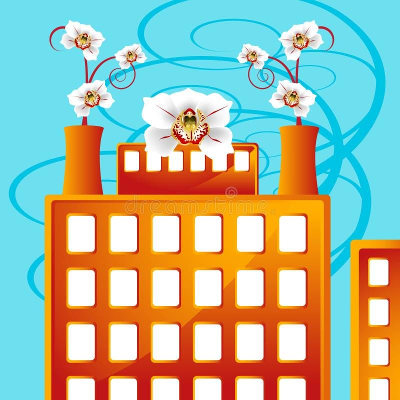 blomma affärsfabrik vektor illustrationer